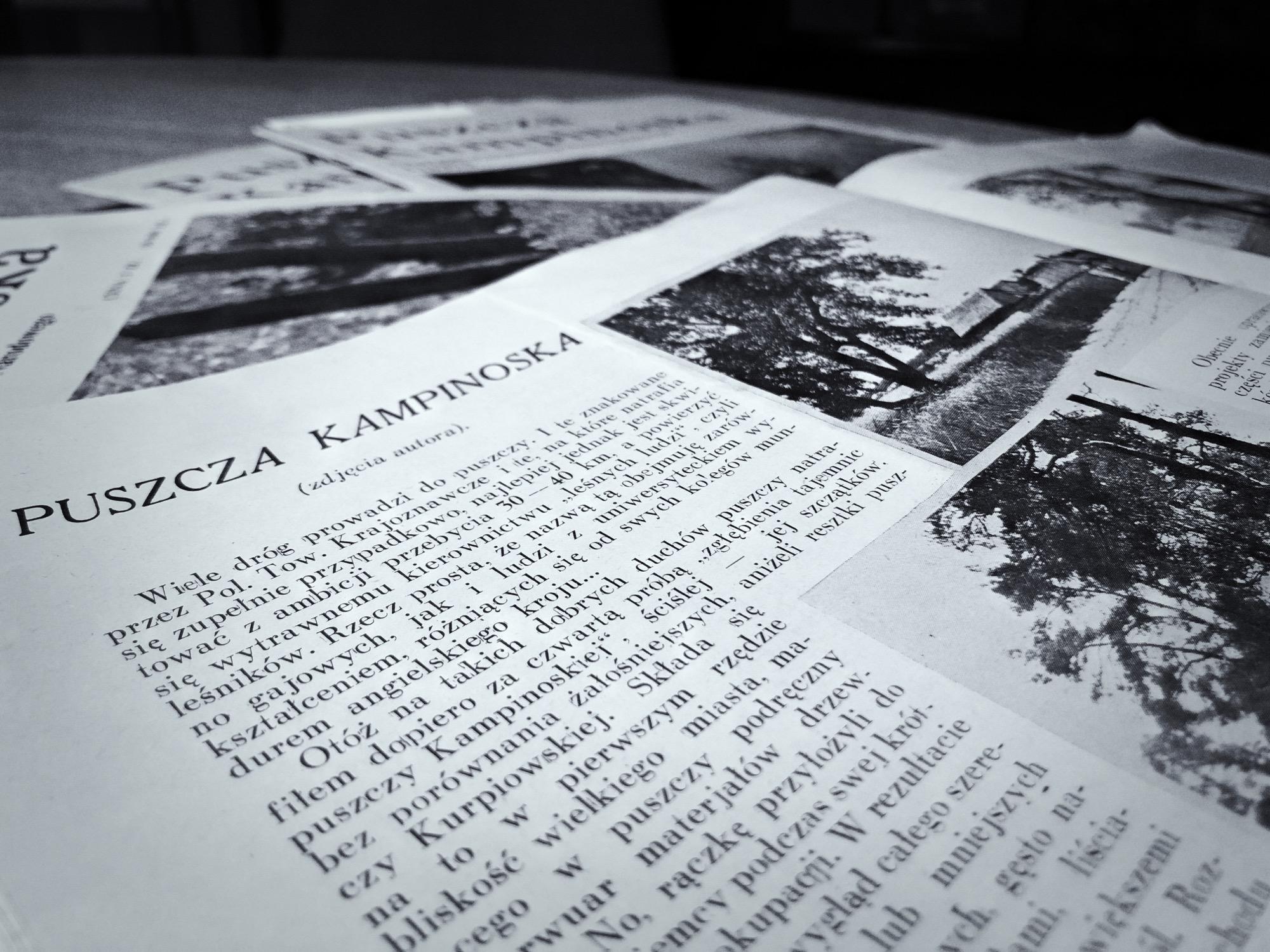 Tygodnik Bluszcz, wydanie z sierpnia 1933 roku, w którym pojawił się artykuł na temat ówczesnego charakteru puszczy Kampinoskiej oraz jej historii